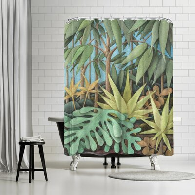 Three Mac Studio Jungle Shower Curtain