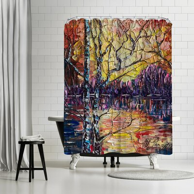 OLena Art Beautiful Sunset Shower Curtain