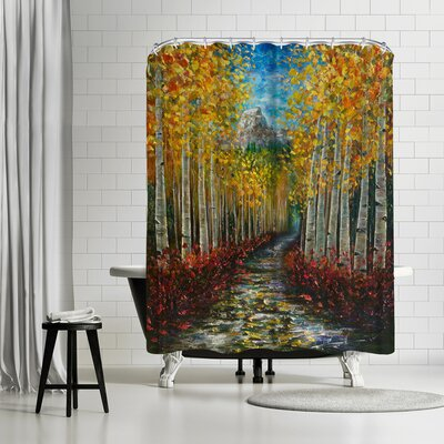 OLena Art Nelly Creek Shower Curtain