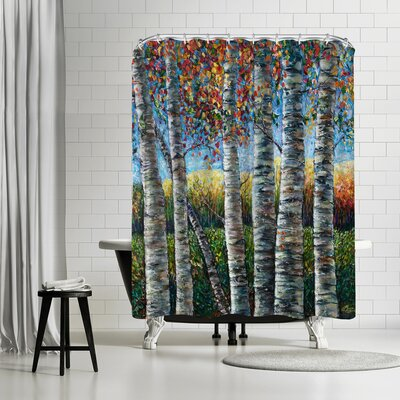 OLena Art Rocky Mountain High Shower Curtain