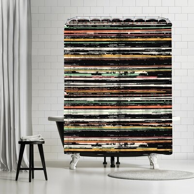 Florent Bodart Recordsss Shower Curtain