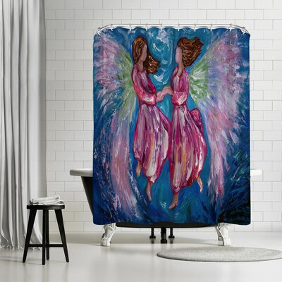 OLena Art Angelic Dance Shower Curtain