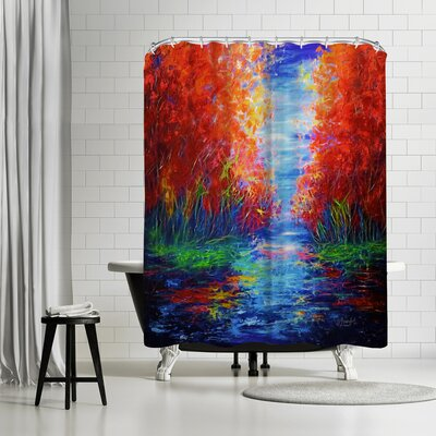 OLena Art Lake View Shower Curtain
