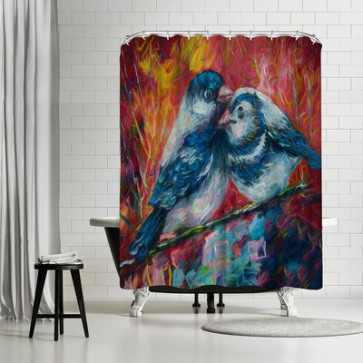 OLena Art Love Birds Shower Curtain