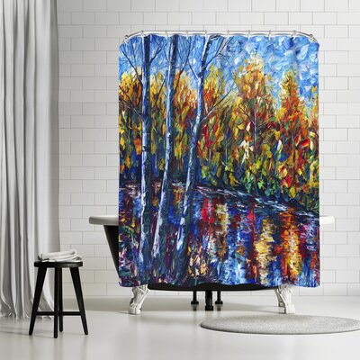 OLena Art Dreaming Forest Shower Curtain