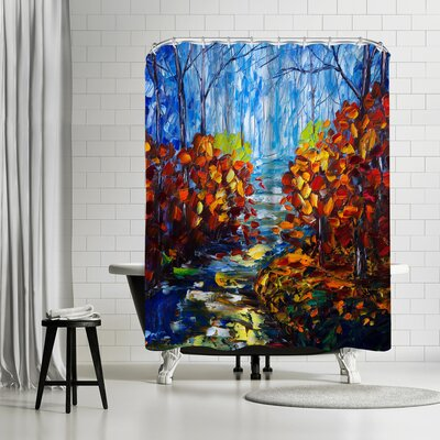 OLena Art Misty Path Shower Curtain
