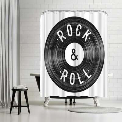 Florent Bodart Rock Roll Shower Curtain