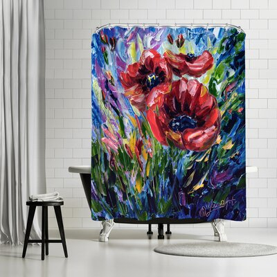 OLena Art Poppies Shower Curtain