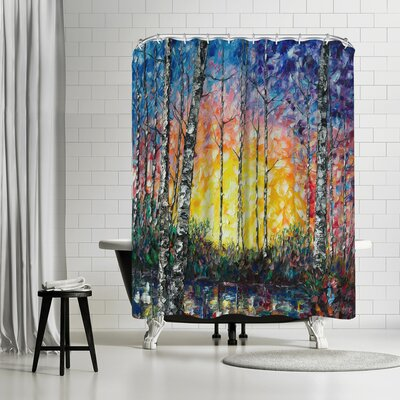 OLena Art Morning Breaks Shower Curtain