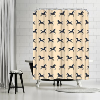 Florent Bodart Unicorns are Real Shower Curtain