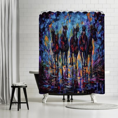 OLena Art Roaming Free Shower Curtain