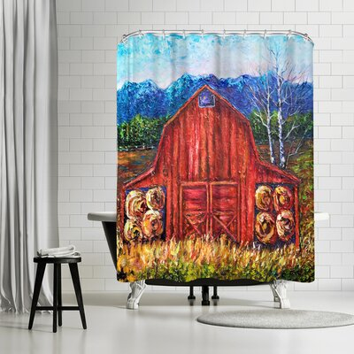 OLena Art Barn Tiff Shower Curtain