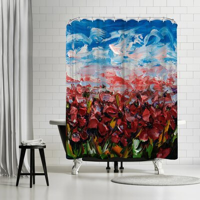 OLena Art Poppy Field Shower Curtain