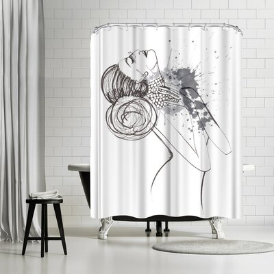 Alison B Dying to Be Fabulous Shower Curtain