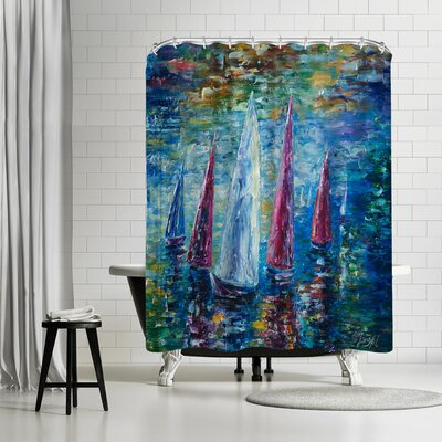 OLena Ar Sails to Night Shower Curtain