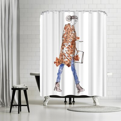 Alison B Fall Fur Shower Curtain