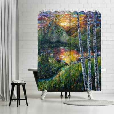 OLena Art Sleeping Meadow Shower Curtain