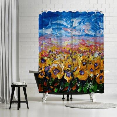 OLena Art Sunflower Field Shower Curtain