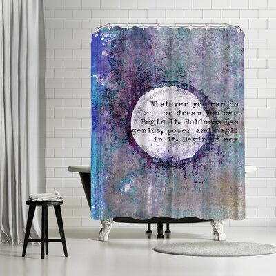 Lebens Art Begin Shower Curtain