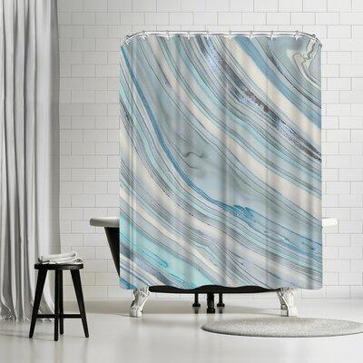 Lebens Art Marble Shower Curtain