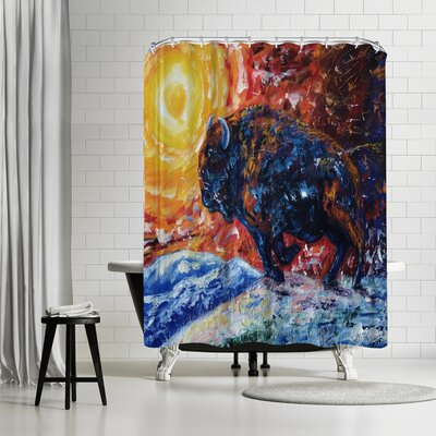 OLena Art Wild the Storm Shower Curtain