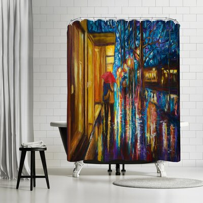OLena Art Love in the Rain Shower Curtain