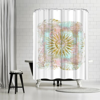 Lebens Art Sun Gold Pastel Shower Curtain
