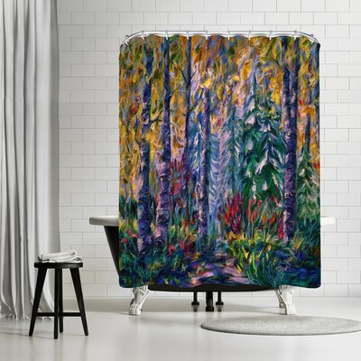 OLena Art Deep in the Woods Shower Curtain