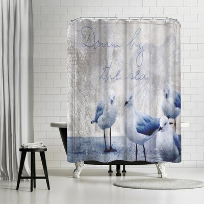 Lebens Art Sound of the Ocean Shower Curtain