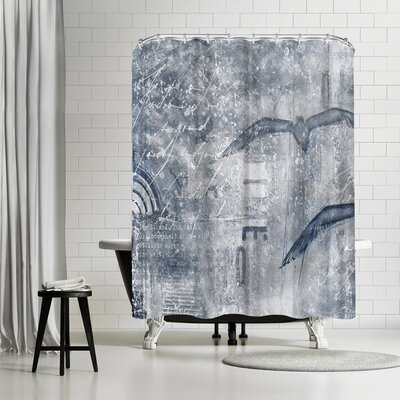 Lebens Art Time Flies Shower Curtain