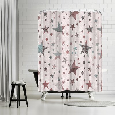 Lebens Art Stars Shower Curtain
