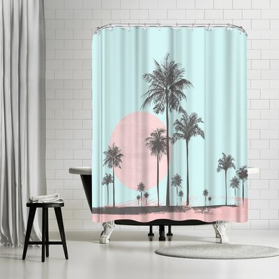 Lebens Art Sun Set Shower Curtain