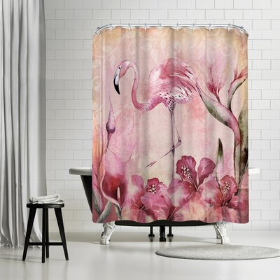 Lebens Art Bird Collage Shower Curtain