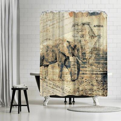 Lebens Art Elephant Shower Curtain