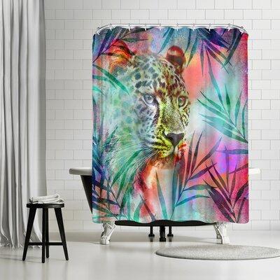 Lebens Art Gepard Shower Curtain