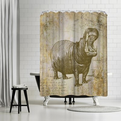 Lebens Art Hippo Vintage Shower Curtain