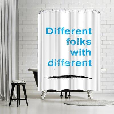 Ikonolexi Diversity Quote Shower Curtain