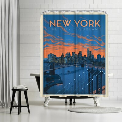 New York CIty of Dreams Shower Curtain ETHH3213 45500266