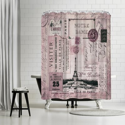 Lebens Art Nostalgic Paris Shower Curtain