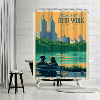 NYC Central Park Bench Shower Curtain