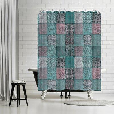 Lebens Art Patchwork Shower Curtain