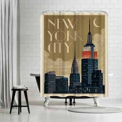 NYC Deco Skyline Shower Curtain