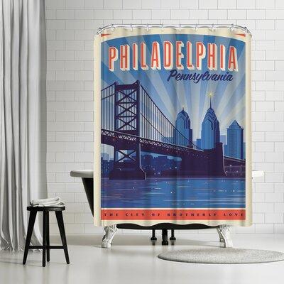 Philly Skyline Shower Curtain