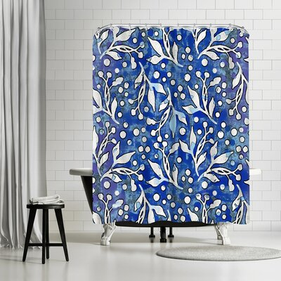 Lebens Art Wc Blau Shower Curtain