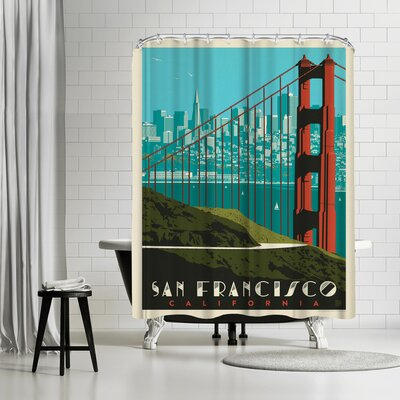 San Francisco Golden Gate Bridge Skyline Shower Curtain