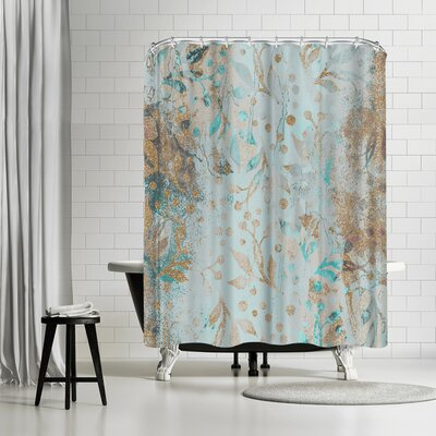 Lebens Art Wc Pastel Glitter Square Shower Curtain