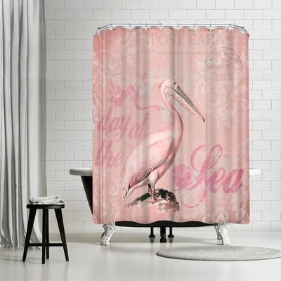 Lebens Art Pelican Shower Curtain