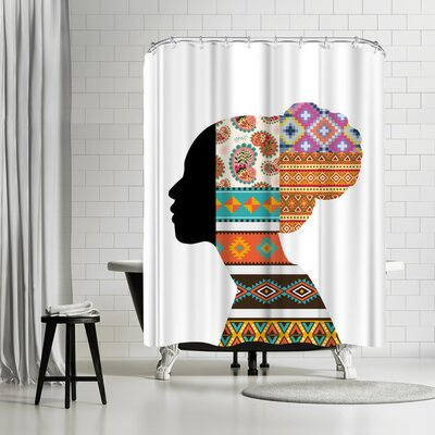 Ikonolexi Ethnic Woman Shower Curtain