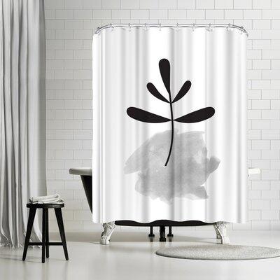 Ikonolexi Leaf Shower Curtain