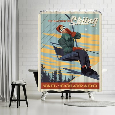 Vail CO Id Rather be Skiing Shower Curtain